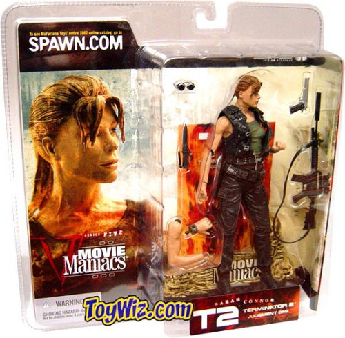 McFarlane Toys The Terminator Terminator 2 Judgment Day Movie Maniacs Series 5 Sarah Connor Action Figure [Pony Tail, No Hat]