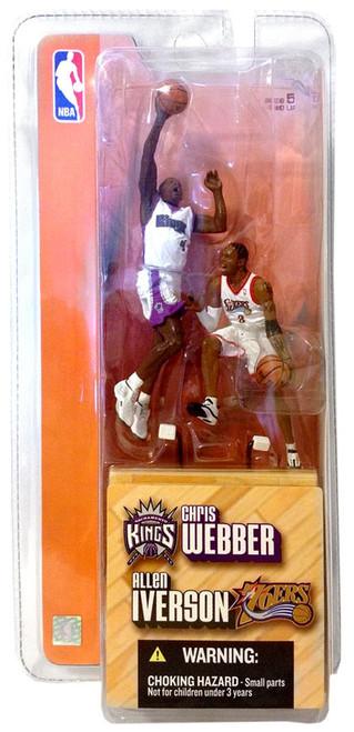 McFarlane Toys NBA Philadelphia 76ers / Sacramento Kings Sports Picks 3 Inch Mini Series 1 Allen Iverson & Chris Webber Mini Figure 2-Pack