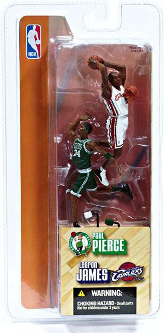 McFarlane Toys NBA Cleveland Cavaliers / Boston Celtics Sports Picks 3 Inch Mini Series 1 Lebron James & Paul Pierce Mini Figure 2-Pack