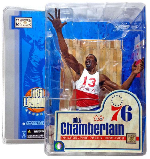 McFarlane Toys NBA Philidelphia 76ers Sports Picks Legends Series 1 Wilt Chamberlain Action Figure [White & Red Jersey]