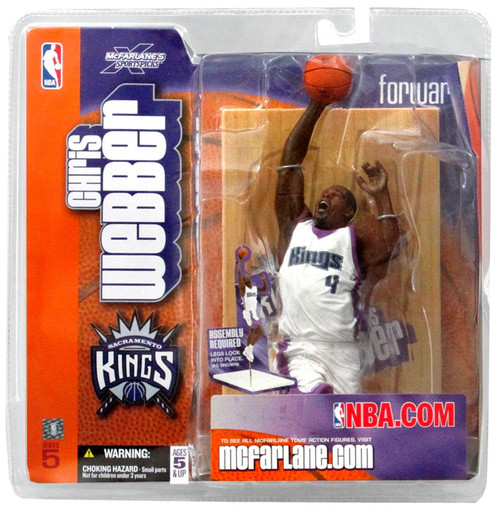 McFarlane Toys NBA Sacramento Kings Sports Picks Series 5 Chris Webber Action Figure [White Jersey]