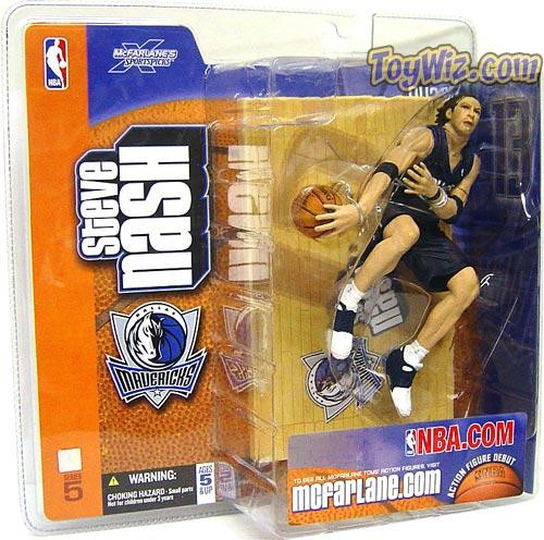 McFarlane Toys NBA Dallas Mavericks Sports Picks Series 5 Steve Nash Action Figure [Blue Jersey]