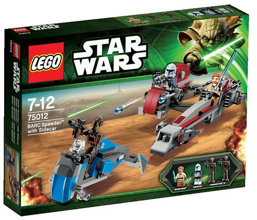 LEGO Star Wars The Clone Wars BARC Speeder with Sidecar Exclusive Set #75012