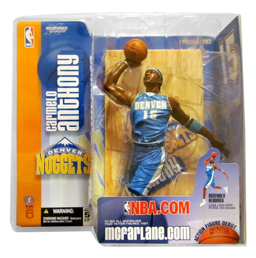 McFarlane Toys NBA Denver Nuggets Sports Picks Series 6 Carmelo Anthony Action Figure [Teal Jersey]