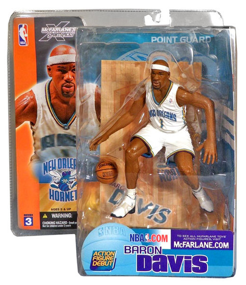 McFarlane Toys NBA New Orleans Hornets Sports Picks Series 3 Baron Davis Action Figure [White Jersey]