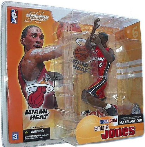 McFarlane Toys NBA Miami Heat Sports Picks Series 3 Eddie Jones Action Figure [Red Jersey]