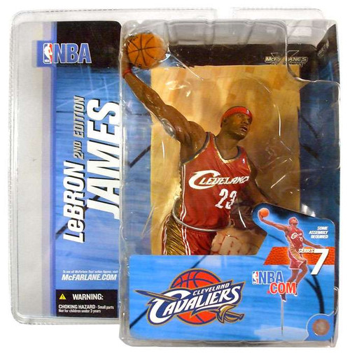 McFarlane Toys NBA Cleveland Cavaliers Sports Picks Series 7 LeBron James Action Figure [Red Jersey]