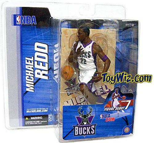 McFarlane Toys NBA Milwaukee Bucks Sports Picks Series 7 Michael Redd Action Figure [White Jersey]
