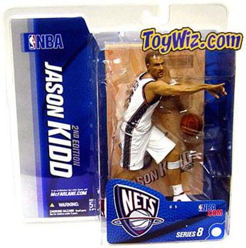 McFarlane Toys NBA New Jersey Nets Sports Picks Series 8 Jason Kidd Action Figure [White Jersey]