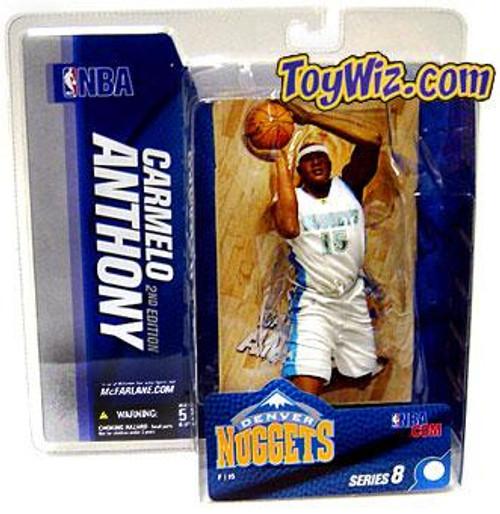 McFarlane Toys NBA Denver Nuggets Sports Picks Series 8 Carmelo Anthony Action Figure [White Jersey]