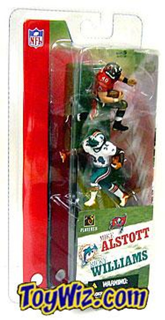 McFarlane Toys NFL Tampa Bay Buccaneers / Miami Dolphins Sports Picks 3 Inch Mini Series 1 Mike Alstott & Ricky Williams Mini Figure 2-Pack 2-Pack
