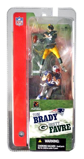 McFarlane Toys NFL Green Bay Packers / New England Patriots Sports Picks 3 Inch Mini Series 1 Brett Favre & Tom Brady Mini Figure 2-Pack 2-Pack