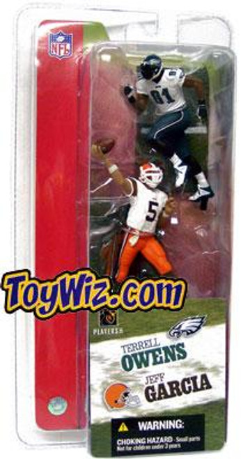 McFarlane Toys NFL Cleveland Browns / Philadelphia Eagles Sports Picks 3 Inch Mini Series 2 Jeff Garcia & Terrell Owens Mini Figure 2-Pack 2-Pack