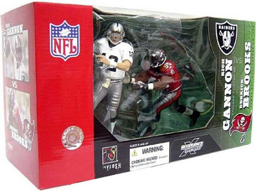 McFarlane Toys NFL Oakland Raiders / Tampa Bay Buccaneers Sports Picks 2-Packs Rich Gannon & Derrick Brooks Action Figure 2-Pack