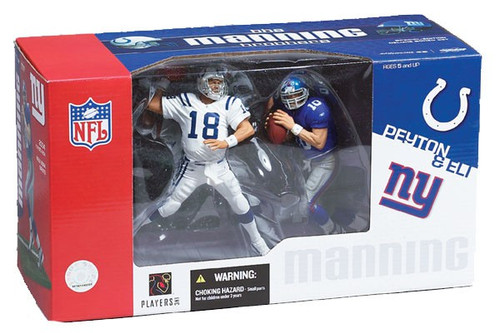 McFarlane Toys NFL Indianapolis Colts / New York Giants Sports Picks 2-Packs Peyton Manning & Eli Manning Action Figure 2-Pack