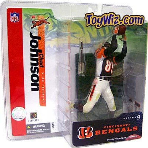 McFarlane Toys NFL Cincinnati Bengals Sports Picks Series 9 Chad Johnson Action Figure [Black Jersey Variant]