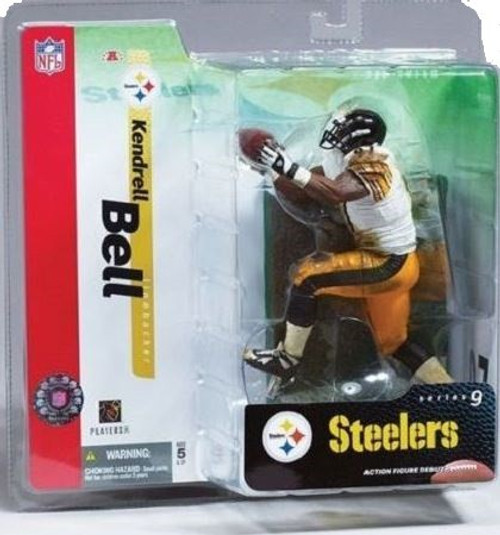 McFarlane Toys NFL Pittsburgh Steelers Sports Picks Series 9 Kendrell Bell Action Figure [White Jersey]