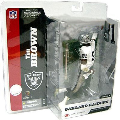 McFarlane Toys NFL Oakland Raiders Sports Picks Series 8 Tim Brown Action Figure [White Jersey With Towel Variant]