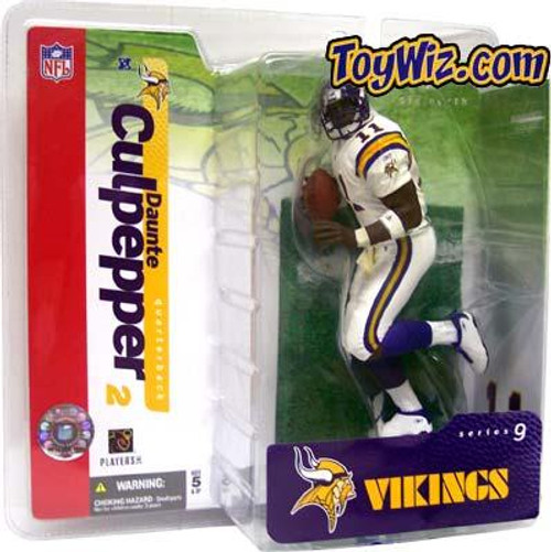 McFarlane Toys NFL Minnesota Vikings Sports Picks Series 9 Daunte Culpepper Action Figure [White Jersey Variant]