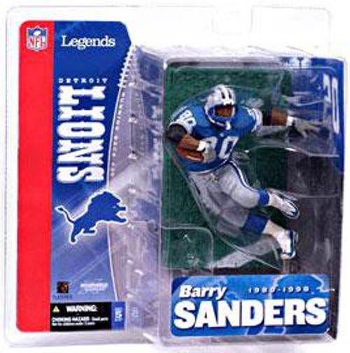 McFarlane Toys NFL Detroit Lions Sports Picks Legends Series 1 Barry Sanders Action Figure [Blue Jersey]