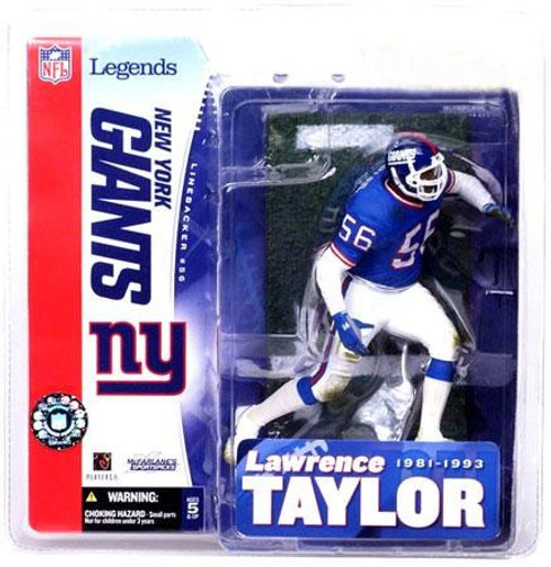 McFarlane Toys NFL New York Giants Sports Picks Legends Series 1 Lawrence Taylor Action Figure [Blue Jersey]