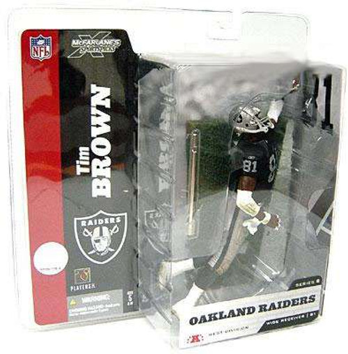 McFarlane Toys NFL Oakland Raiders Sports Picks Series 8 Tim Brown Action Figure [Black Jersey With Towel]