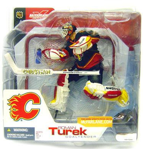 McFarlane Toys NHL Calgary Flames Sports Picks Series 3 Roman Turek Action Figure [Black Jersey Variant]