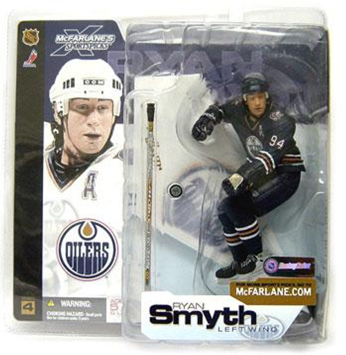 McFarlane Toys NHL Edmonton Oilers Sports Picks Series 4 Ryan Smyth Action Figure [Black Jersey Variant]