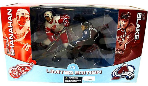 McFarlane Toys NHL Detroit Red Wings & Colorado Avalanche Sports Picks 2-Packs Brendan Shanahan & Rob Blake Action Figure 2-Pack