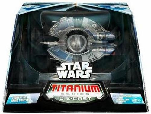 Star Wars The Clone Wars Titanium Series Ultra Vehicles Droid Tri-Fighter Diecast Vehicle
