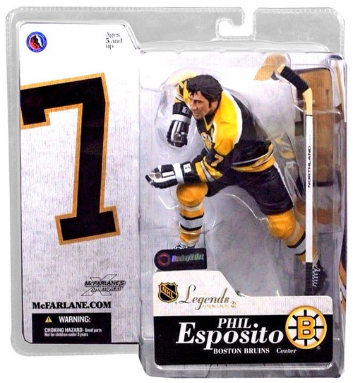 McFarlane Toys NHL Boston Bruins Sports Picks Legends Series 2 Phil Esposito Action Figure [Black Jersey]