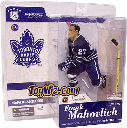 McFarlane Toys NHL Toronto Maple Leafs Sports Picks Legends Series 1 Frank Mahovlich Action Figure [Blue Jersey]