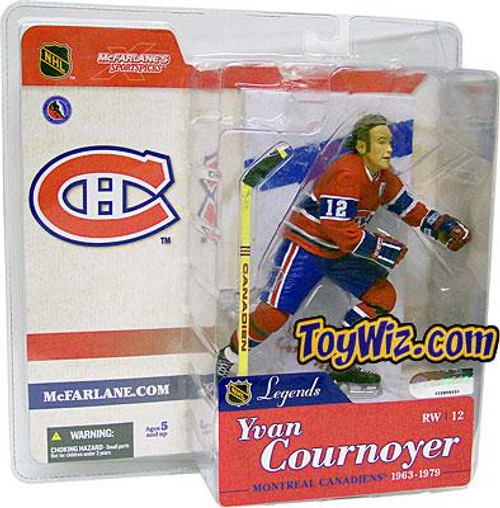 McFarlane Toys NHL Montreal Canadiens Sports Picks Legends Series 1 Yvan Cournoyer Action Figure [Red Jersey]