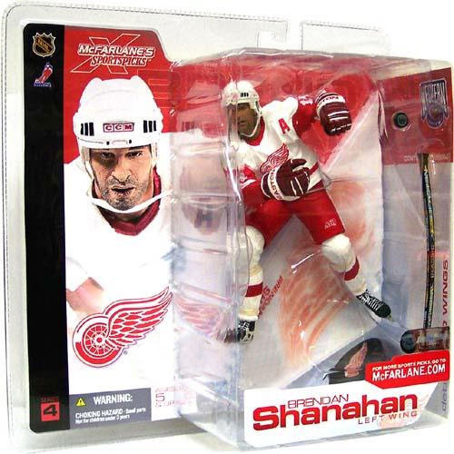 McFarlane Toys NHL Detroit Red WIngs Sports Picks Series 4 Brendan Shanahan Action Figure [White Jersey]