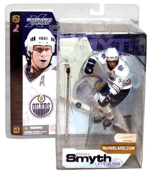 McFarlane Toys NHL Edmonton Oilers Sports Picks Series 4 Ryan Smyth Action Figure [White Jersey]