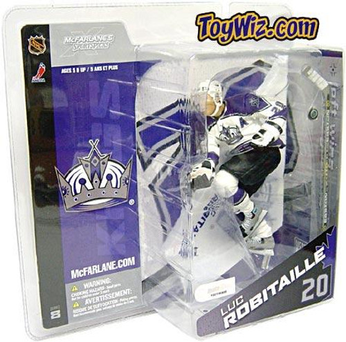 McFarlane Toys NHL Los Angeles Kings Sports Picks Series 8 Luc Robitaille Exclusive Action Figure [White Jersey]