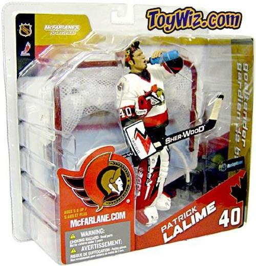 McFarlane Toys NHL Ottawa Senators Sports Picks Series 8 Patrick Lalime Exclusive Action Figure [White Jersey]