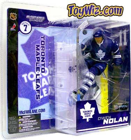 McFarlane Toys NHL Toronto Maple Leafs Sports Picks Series 7 Owen Nolan Action Figure [Blue Jersey Variant]