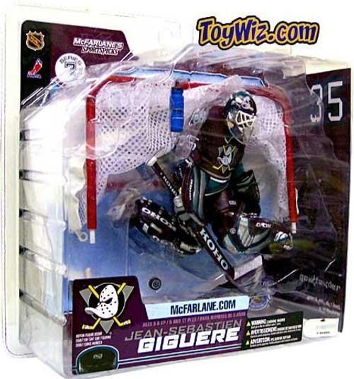 McFarlane Toys NHL Anaheim Mighty Ducks Sports Picks Series 7 Jean-Sebastien Giguere Action Figure [Purple Jersey Variant]