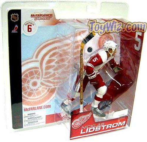 McFarlane Toys NHL Detroit Red Wings Sports Picks Series 6 Nicklas Lidstrom Action Figure [White Jersey]
