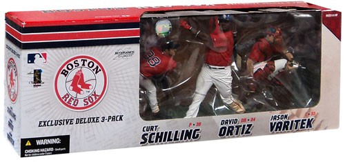 McFarlane Toys MLB Boston Red Sox Sports Picks Exclusive 3-Pack David Ortiz, Jason Varitek & Curt Schilling Exclusive Action Figure 3-Pack