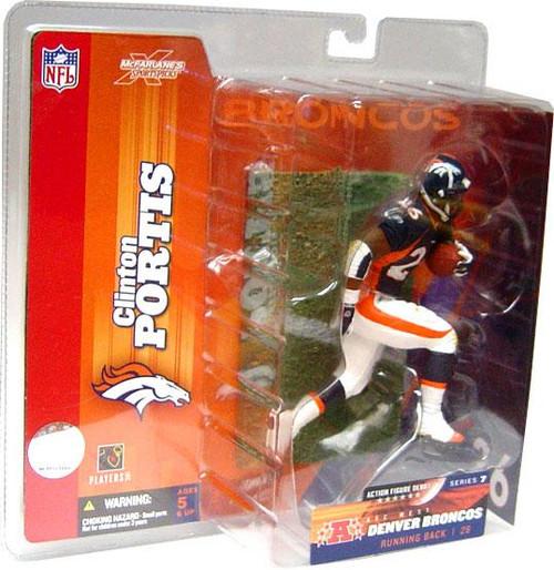 McFarlane Toys NFL Denver Broncos Sports Picks Series 7 Clinton Portis Action Figure [Blue Jersey]