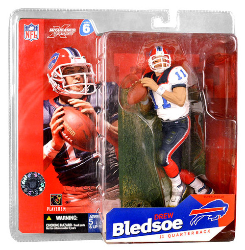 McFarlane Toys NFL Buffalo Bills Sports Picks Series 6 Drew Bledsoe Action Figure [White Jersey Variant]