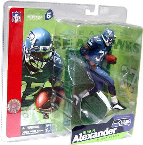 McFarlane Toys NFL Seattle Seahawks Sports Picks Series 6 Shaun Alexander Action Figure [Blue Jersey Blue Pants]