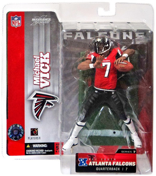 McFarlane Toys NFL Atlanta Falcons Sports Picks Series 7 Michael Vick Action Figure [Red Jersey Variant]