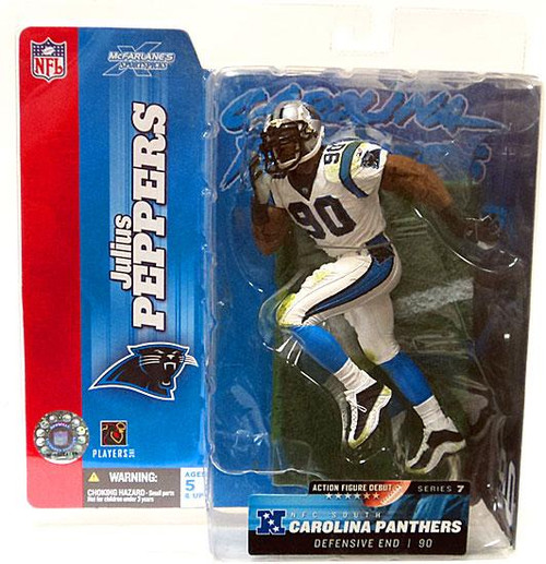 McFarlane Toys NFL Carolina Panthers Sports Picks Series 7 Julius Peppers Action Figure [White Jersey Variant]