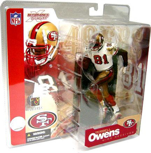McFarlane Toys NFL San Francisco 49ers Sports Picks Series 4 Terrell Owens Action Figure [White Jersey Variant]