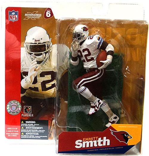 McFarlane Toys NFL Arizona Cardinals Sports Picks Series 6 Emmitt Smith Action Figure [White Jersey White Gloves]