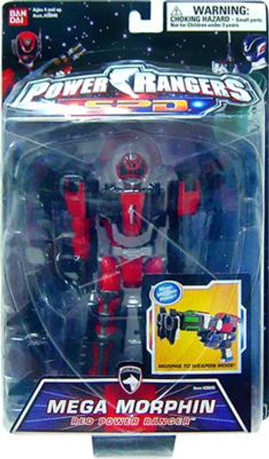 Power Rangers SPD Mega Morphin Red Power Ranger Action Figure