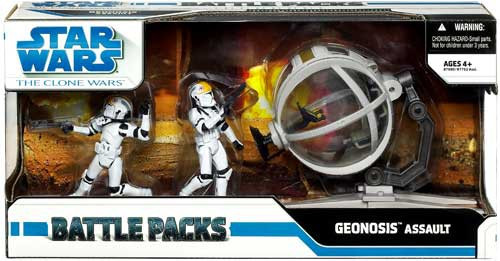 Star Wars The Clone Wars Battle Packs 2009 Geonosis Assault Action Figure Set